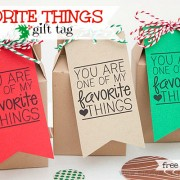 Piggy Bank Parties Favorite Things Gift Tag