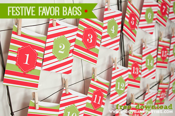 Piggy Bank Parties Festive Favor Bags - 2013 Day 1