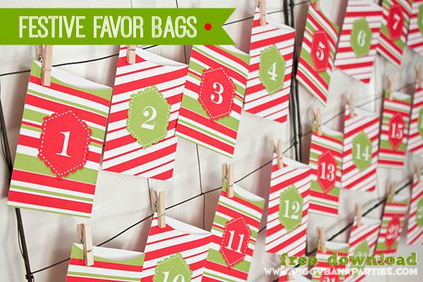 Piggy Bank Parties Festive Favor Bags - 2013 Day 1