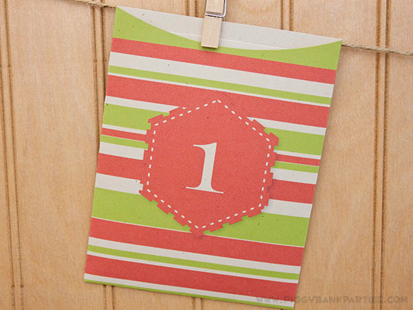 Piggy Bank Parties Festive Favor Bags - Day 1