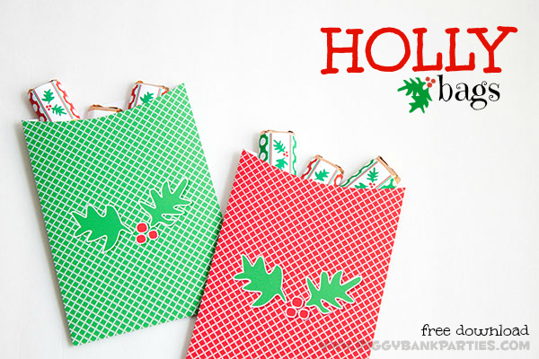 Piggy Bank Parties Holly Bags