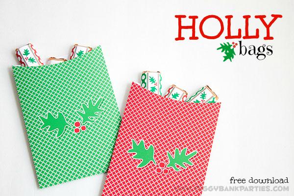 {twELF days} happy holly-day bags