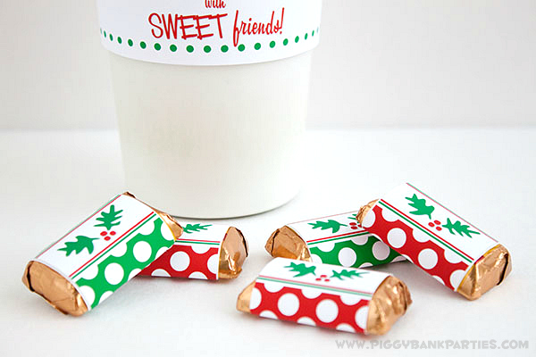 Piggy Bank Parties Holly-n-Dots Mini Bar Wrappers 4