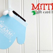 Piggy Bank Parties Mitten Gift Card Holder A