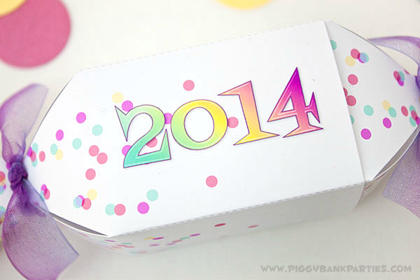 Piggy Bank Parties New Years Eve Favor Box 11