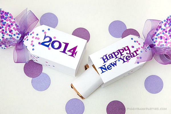 Piggy Bank Parties New Years Eve Favor Box 3
