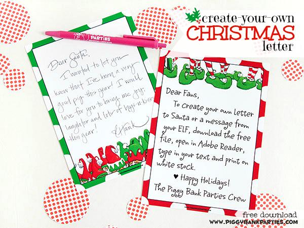 Piggy Bank Parties Twelf Days 2013 - Christmas Letter