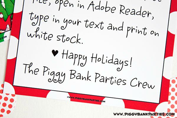 Piggy Bank Parties Twelf Days 2013 - Day 4H