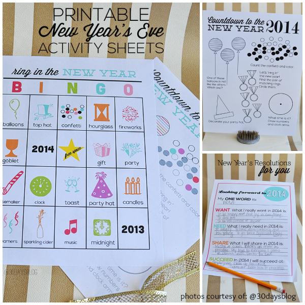 Thirty Handmade Days Blog New Years Eve Activities