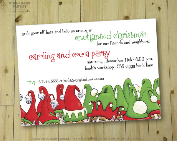 the market christmas and holiday cards Oink The Blog by Piggy – Christmas Invitation Cards