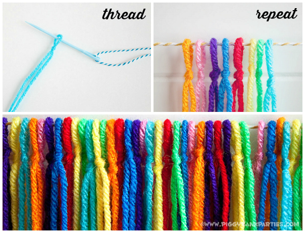Piggy Bank Parties DIY Fiesta Yarn Garland - Thread Repeat