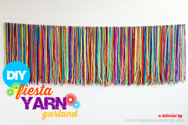 Piggy Bank Parties DIY Fiesta Yarn Garland