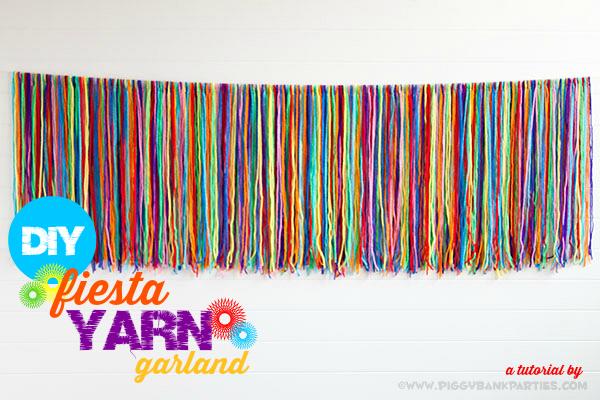 diy fiesta yarn garland