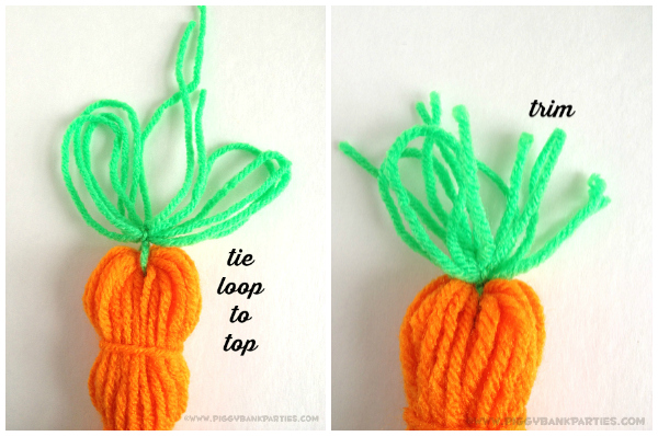 Piggy Bank Parties Yarn Carrot Garland 11