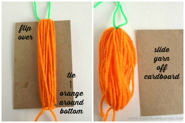 Piggy Bank Parties Yarn Carrot Garland 4