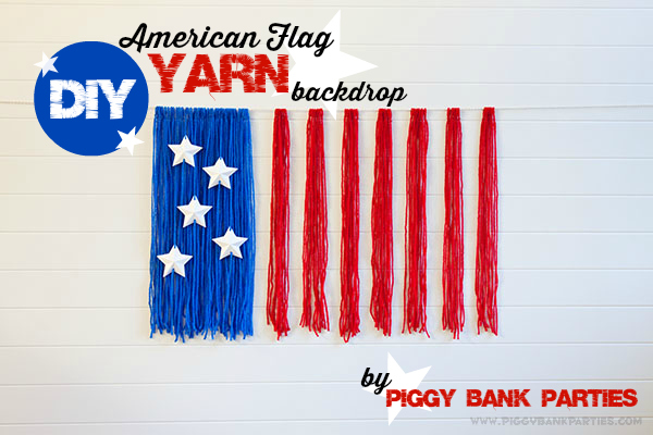 Piggy Bank Parties American Flag Yarn Backdrop