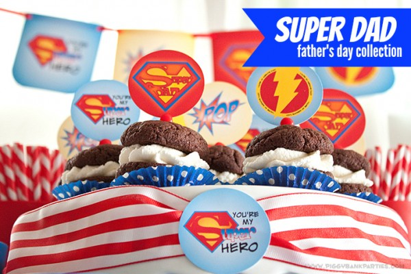Piggy Bank Parties Super Dad Collection - Graphic