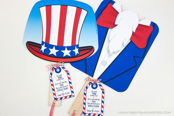 Piggy Bank Parties Uncle Sam Fan 1