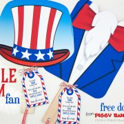 Piggy Bank Parties Uncle Sam Fan