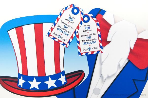 Piggy Bank Parties Uncle Sam Fan - Cut