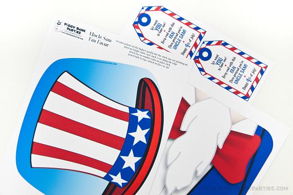 Piggy Bank Parties Uncle Sam Fan - Print