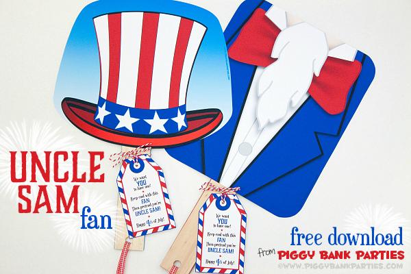 Piggy Bank Parties Uncle Sam Fan