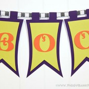 Piggy Bank Parties Elegant BOO Banner