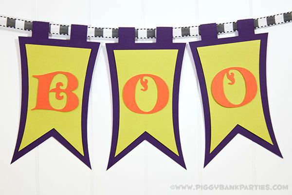 Piggy Bank Parties Elegant BOO Banner