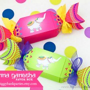 Piggy Bank Parties Henna Ganesha Favor Box - Now Available
