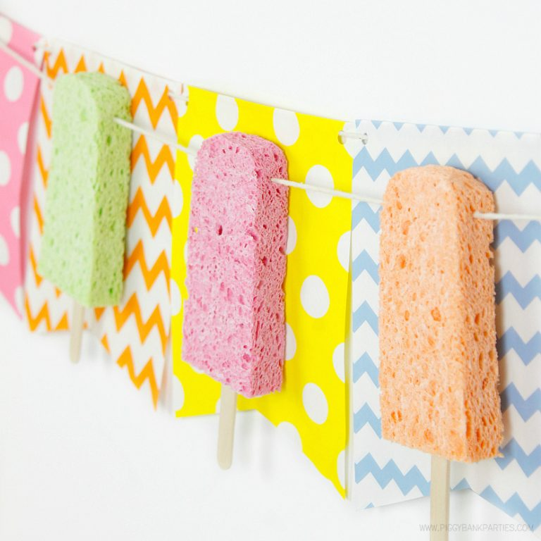 Keeping Cool with a Frozen Sponge Pops Garland