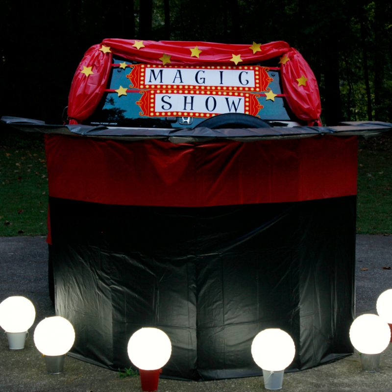 5-Minute Outdoor Lights: Paper Lantern Footlights by Piggy Bank Parties | Magical Trunk or Treat Lights | Halloween Outdoor Lighting | Light up your outdoor event in less than 5 minutes!