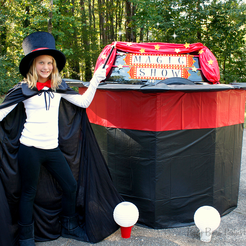 Magic Trick Trunk or Treat by Piggy Bank Parties | Trunk or Treat Halloween Blog Hop | Magical idea for an interactive trick-or-treating experience!
