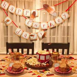 Quirky Turkey Kids Table by Piggy Bank Parties