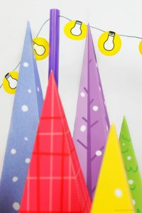 Colorful Christmas Tree Lot Free Download by Piggy Bank Parties