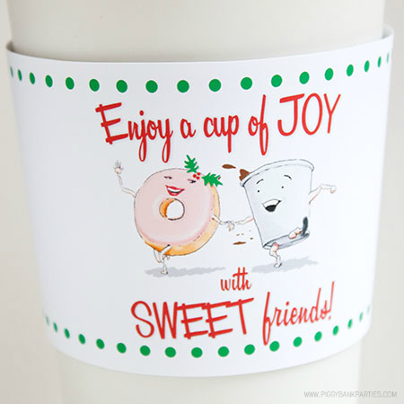 Cup of Joy Cup Sleeve by Piggy Bank Parties