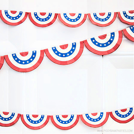Americana Bunting by Piggy Bank Parties