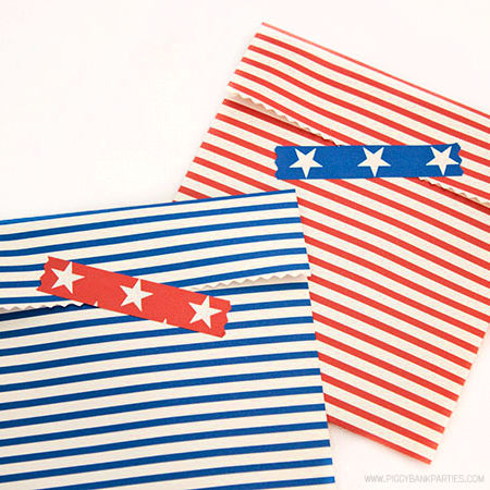 Americana Favors by Piggy Bank Parties