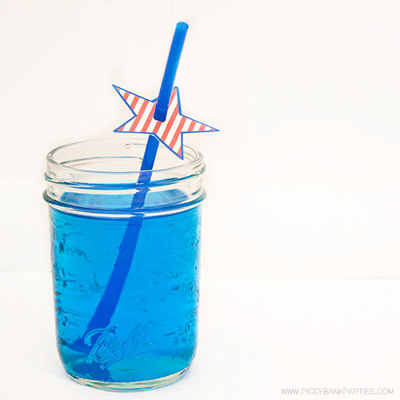 Americana Straw Stars by Piggy Bank Parties