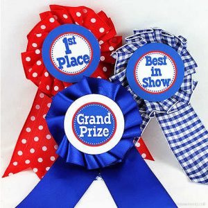 Blue Ribbon Medallions by Piggy Bank Parties