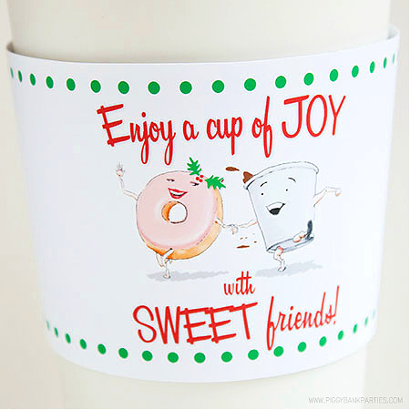 Cup of Joy Coffee Sleeve by Piggy Bank Parties