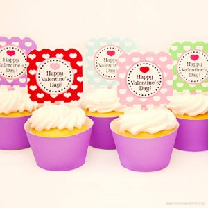Cupcake Wrapper Template by Piggy Bank Parties