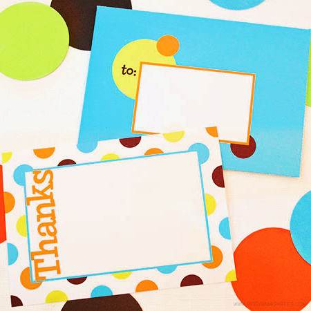 Dots of Love Thank You Note Set by Piggy Bank Parties