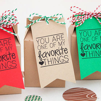 Favorite Things Gift Tag by Piggy Bank Parties
