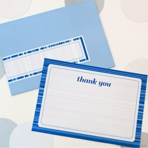 Feeling Blue Thank You Note Set by Piggy Bank Parties