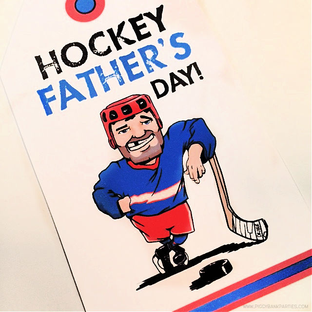 Hockey Fathers Day Tag by Piggy Bank Parties