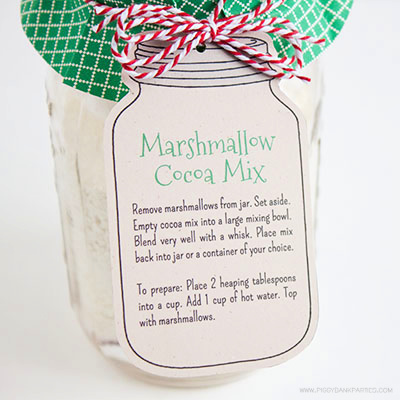 Marshmallow Cocoa Mix Tag by Piggy Bank Parties