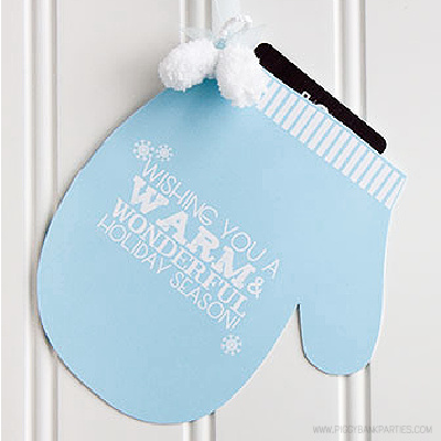Mitten Gift Card Holder by Piggy Bank Parties