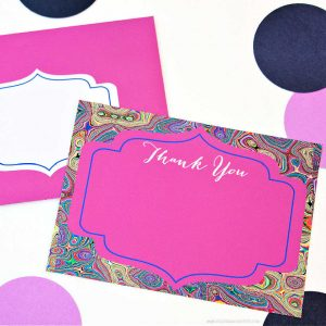 Moroccan Chic Thank You Note Set by Piggy Bank Parties