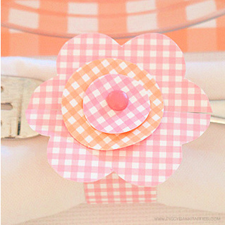 Paper Flower Napkin Ring Template by Piggy Bank Parties