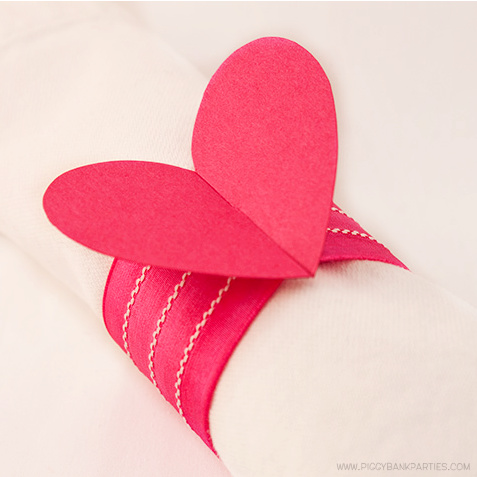 Heart Napkin Ring Template by Piggy Bank Parties